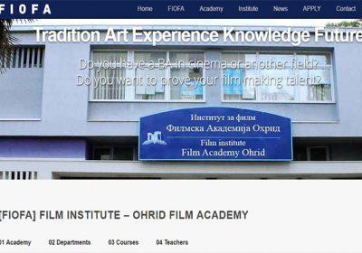 Web Design – FilmAcademyOhrid.com