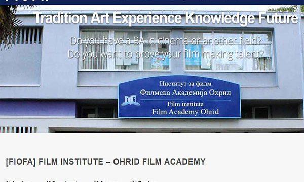 Web Design FilmAcademyOhrid.com